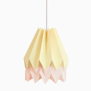 Pink & Yellow Origami Lampshade by Orikomi