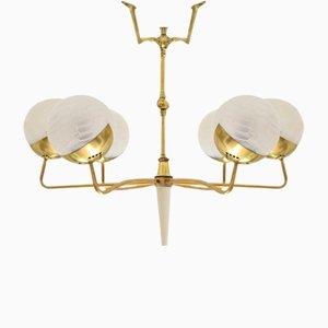 Italienischer Mid-Century Kronleuchter mit Sechs Leuchten