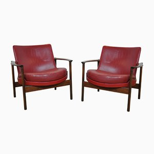 Easy Chairs by Ib Kofod Larsen for Fröscher, 1950s, Set of 2