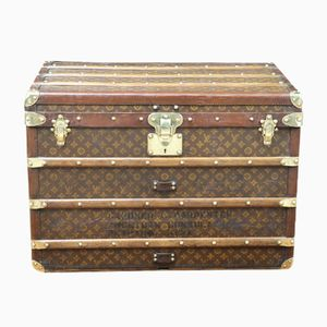 Steamer Trunk with Stencil Monogram Canvas from Louis Vuitton, 1930s