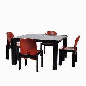 Vintage Modell 778 Tisch & Vier Modell 121 Stühle von Tobia Scarpa für Cassina