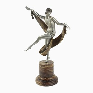 French Art Deco Bronze Statue by Fanny Rozet, 1920s