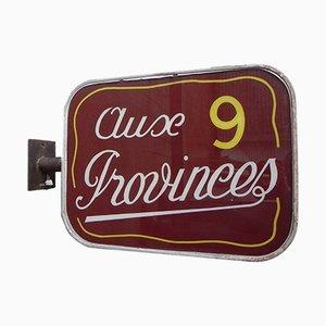 Doppelseitige Vintage Aux 9 Provinces Lichtbox