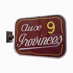 Vintage Aux 9 Provinces Double-Sided Light Box