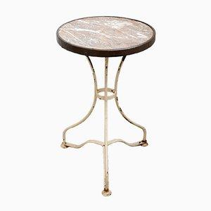 Antiker Bistro Tisch mit Marmorplatte, 1890er