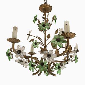 Vintage French Flower Chandelier