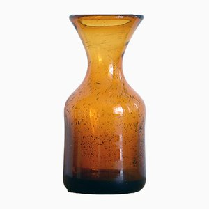 Vintage Blown Amber Glass Vase by Erik Hoglund for Kosta Boda, 1960s