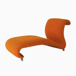 Orange Mid-Century Chaise Longue von Verner Panton für Storz & Palmer, 1960er