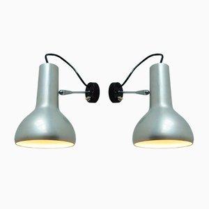 Lampade da parete modello 7 vintage di Gino Sarfatti per Arteluce, set di 2