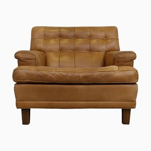 Merkur Buffalo Leather Easy Chair from Arne Norell, 1960s