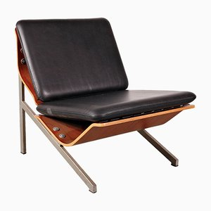 FM50 Leather Easy Chair by Cornelis Zitman for Pastoe, 1964