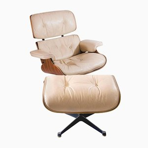 Lounge Chair with Ottoman by Charles & Ray Eames for Mobilier International, 1960s