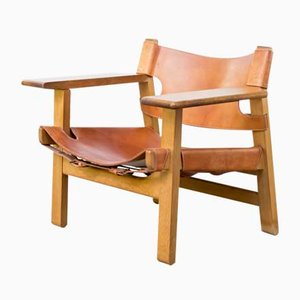 Spanish Lounge Chair by Børge Mogensen for Fredericia, 1970s