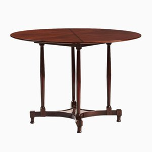 Vintage Italian Rosewood Round Dining Table