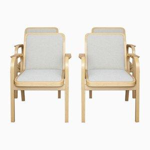 Model 45 Chairs by Alvar Aalto for Artek, 1970s, Set of 4
