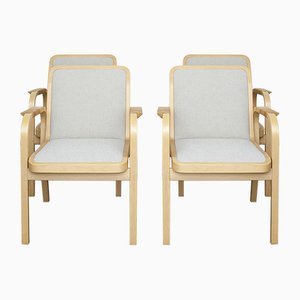 Modell 45 Stühle von Alvar Aalto für Artek, 1970er, 4er Set
