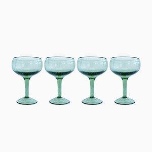Grüne Cocktail Gläser von House Doctor, 4er Set
