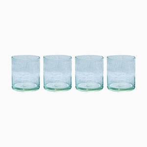 Hand Blown Water Tumblers from House Doctor, Set of 4