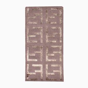 Indischer Handgefertigter Vintage Teppich mit Seiden Details, 1980er
