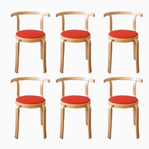 8000 Series Chairs by Rud Thygesen & Johnny Sørensen for Magnus Olesen, 1980s, Set of 6