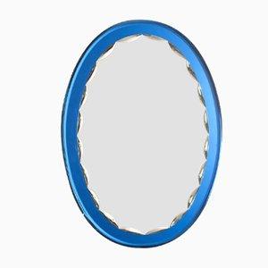 Mid-Century Oval Italian Mirror, 1960s