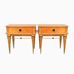 Tables de Chevet en Bouleau, France, 1960s, Set de 2