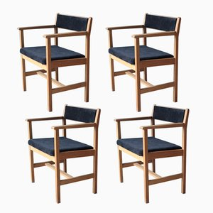 Mid-Century Scandinavian Model 3242 Dining Chairs by Borge Mogensen for Fredericia, Set of 4