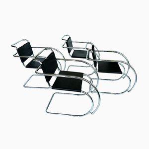 Vintage MR Armchairs by Ludwig Mies Van Der Rohe, Set of 4