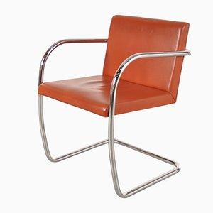 BNRO Stuhl aus Cognacfarbenem Leder & Chrom von Ludwig Mies van der Rohe für Knoll, 1970er