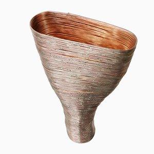 Wrap Tischlampe aus Buche & Kupfer von Johannes Hemann