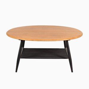Tavolino da caffè con base in legno nero di Lucian Ercolani per Ercol, anni '50