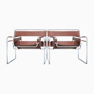 Vintage B3 Wassily Stühle von Marcel Breuer für Gavina, 2er Set