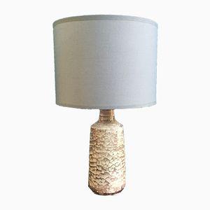 Lampe de Bureau Vintage en Céramique avec Vernis Craquelé, Danemark, 1960s