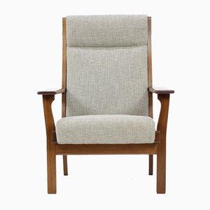 Vintage GE181A High Back Easy Chair by Hans J. Wegner for Getama