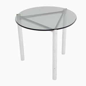Side Table with Chrome Frame & Glass Top, 1960s