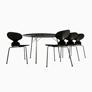 Egg Table & Ant Chairs Dining Set by Arne Jacobsen for Fritz Hansen, 1950s