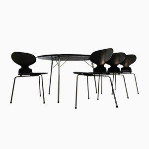 Table Egg et Set de Chaises de Salon Ant par Arne Jacobsen pour Fritz Hansen, 1950s