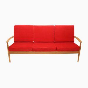 Modell 118 Teak Sofa von Grete Jalk für France & Søn, 1960er