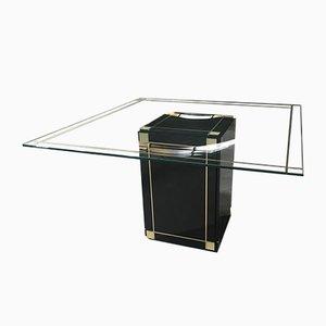 Italienischer Tisch mit Glasplatte, 1970er