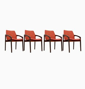 Mid-Century Rosewood Danish Chairs by Kai Kristiansen for Korup, Set of 4