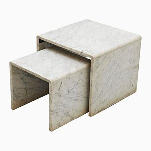 Vintage Marble Nesting Tables, 1960s