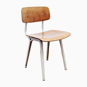Vintage Metal & Wood Revolt Chair by Friso Kramer for Ahrend de Cirkel