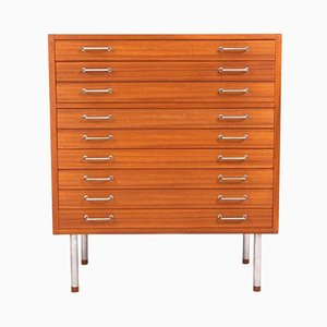 Vintage Flat File Cabinet by Hans J. Wegner for Johannes Hansen