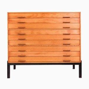 Vintage Flat File Cabinet by Poul Kjærholm for Rud Rasmussen
