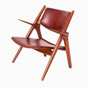 Vintage Sawbuck Sessel von Hans J. Wegner für Carl Hansen & Søn