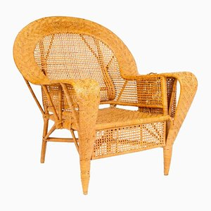 Vintage Wicker Chair by Kay Fisker for R. Wengler