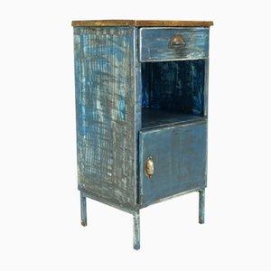 Industrieller Vintage Fabrik Schrank aus Metall