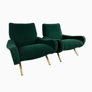 Mid-Century Lady Armchairs by Marco Zanuso for Arflex, Set of 2