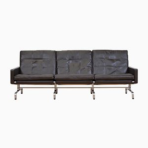 Mid-Century Three-Seater Leather Sofa by Poul Kjærholm for Fritz Hansen