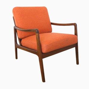 Oranger Mid-Century FD109 Teak Sessel von Ole Wanscher für France & Søn